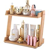 GOBAM Makeup Organizer, Cosmetics Storage Display Rack with 2 Layers, Large Capacity Bathroom Vanity Shelf Countertop, Assemb