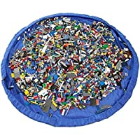 簡単 おもちゃ 片付け マット LEGO レゴ TOMIKA トミカ も 収納 ビッグサイズ (100cm, ブルー)