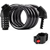 Bike Lock Cable,5-Digit Resettable Combination Anti-Theft Bike Locks,for Bikes and Scooters,Flexible Steel Security Cable Loc
