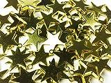 ノーブランド品 スター チャーム ゴールド 13mm 50個 星 スターチャーム レジン パーツ 素材 アクセサリートップ スターモチーフ 星モチーフ (AP0006)