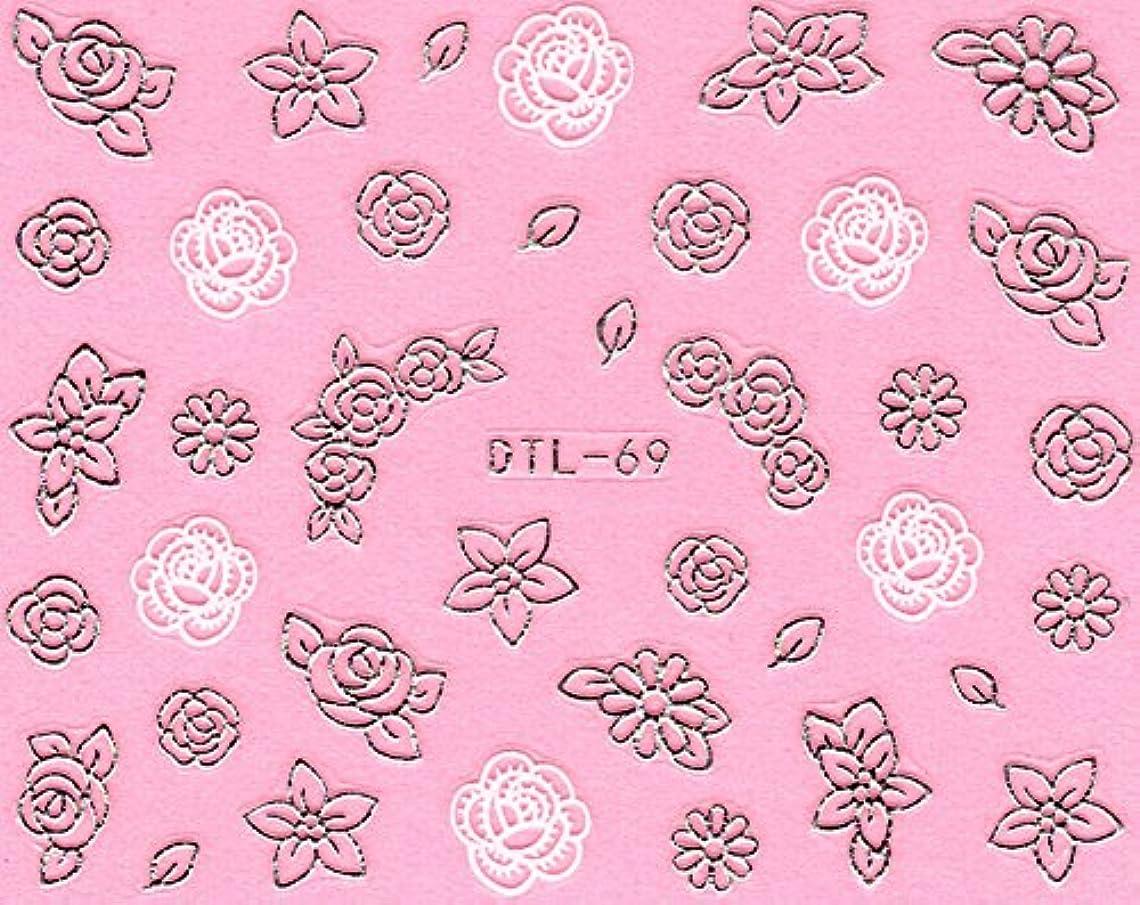ネイルシール メタルパーツ風 ネイティブ柄 選べる24種 (MSP15(シルバー))