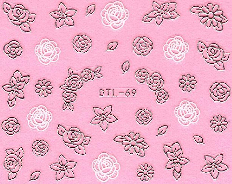 気まぐれな摩擦ステーキネイルシール メタルパーツ風 ネイティブ柄 選べる24種 (MSP15(シルバー))