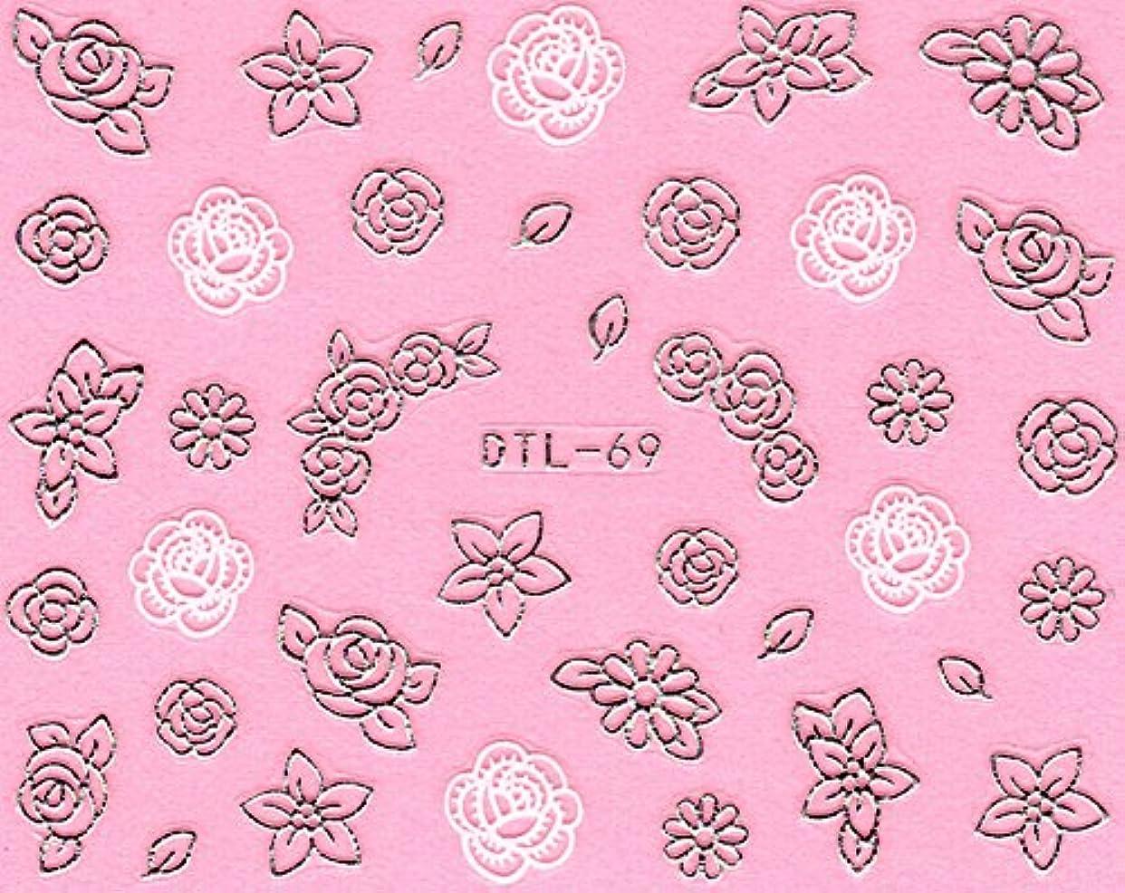 野な干ばつコピーネイルシール メタルパーツ風 ネイティブ柄 選べる24種 (MSP15(シルバー))