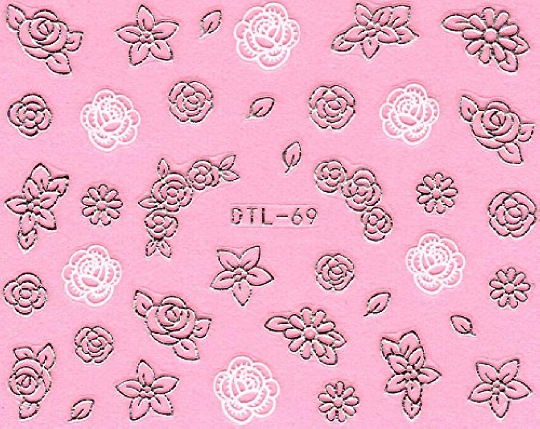 ショッキングセレナ日付付きネイルシール メタルパーツ風 ネイティブ柄 選べる24種 (MSP15(シルバー))