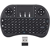 Mini Wireless Keyboard 2.4GHz Portable Keyboard Wireless Gaming Keyboard with Touchpad Mouse Plug and Play & Ergonomic for PC