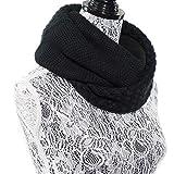 (Baoxinjp)レディーススヌード お洒落 可愛い スカーフ ニットスヌード 秋冬 ファッション小物 女性ストール 首巻き マフラー ブラック