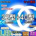 LED蛍光灯丸型 (32W形 40W形, 昼光色)