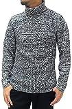 LOUIS CHAVLON(ルイシャブロン) ニット リブ編み タートルネックセーター ブラック L