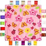 カラフルなリボンベビーTaggyブランケット布団appeseタオル、花の形キッズ幼児セキュリティブランケット