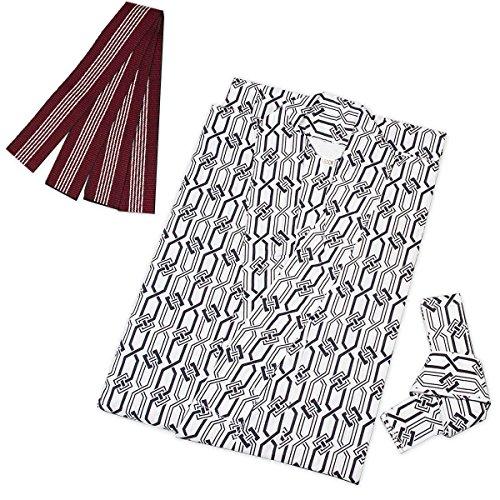 (キョウエツ)KYOETSUレディース旅館浴衣3点セット(浴衣/共紐/丹前帯)(125,04)