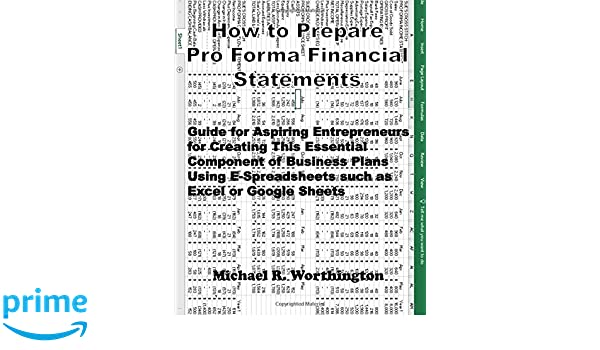 amazon how to prepare pro forma financial statements guide for