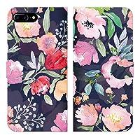 ブレインズ iPhone8Plus 7Plus 6sPlus 6Plus 手帳型 ケース カバー ボタニカル 29 ブレインズ 花柄 ハワイアン ボタニカル柄 ハイビスカス おしゃれ