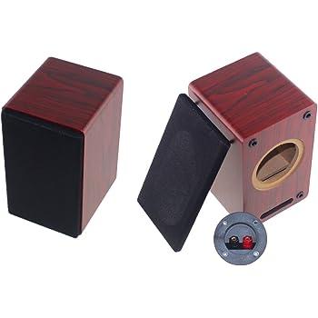 【2本1組 スピーカーボックス】木製 ユニット:3インチ~3.5インチのユニット対応 H20cm×W12cm×D13cmのコンパクトサイズ! 【スピーカーターミナル(樹脂製ジャック)×2個付属】 Bセット