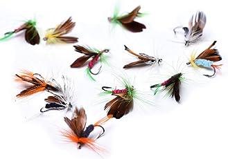 毛針り 毛ばり 毛鈎 完成フライ 川釣り 虫 餌 疑似餌 12種セット