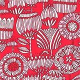 moda fabrics 【30cm以上】Moda◆Stacy Iest Hsu◆レトロタッチの花柄プリント生地◆モダの布地 【モーダ】【レトロ】【輸入生地】【USAコットン】【手芸の柳屋】 14 Red