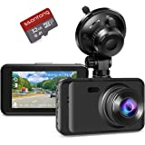 """Dash Cam Car Dashboard Camera, Full HD 1080P 3"""" Screen 170 Degree Wide Angle IPS Screen WDR Lens Vehicle On-Dash Video Record"""