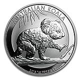 オーストラリア コアラ 銀 2016年 1オンス 銀貨 31.1g シルバー コイン 純銀 インゴット 高級アクリル クリアケース カプセル付き