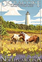 Ocracoke灯台 – Outer Banks , North Carolina 16 x 24 Giclee Print LANT-33313-16x24