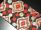リサイクル袋帯/正絹黒地松皮菱袋帯(ふくろおび 丸帯【中古】)【ランクA】