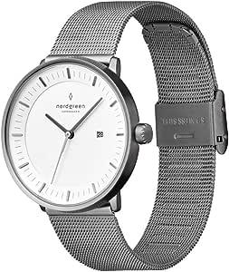 [ノードグリーン]Nordgreen 腕時計 ユニセックス ウォッチ Philosopher ガンメタル 36mm 北欧 デザイナーウォッチ ガンメタルメッシュストラップ【2年保証】