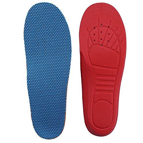 子供用フットパッド、4タイプ整形外科矯正用アーチサポート靴の中敷は子供の平らな足を修正するためのパッドを挿入します(19-23码)