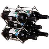 Anberotta ワインラック ホルダー 5本収納 ワイン シャンパン ボトル 収納 ケース スタンド インテリア W53 (シルバー)