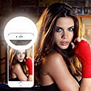 夜間写真撮影光補充ライト 自撮りLEDリングライト 3段階の明るさあり 緊急照明ライト 明るさ調節でき 軽量で持ち運び便利 使用便利 For iphone For Andriod ホワイト