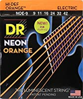 DR NEON ORANGE DR-NOE9 Lite エレキギター弦×6セット