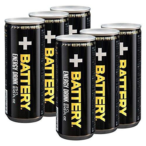 バッテリー(BATTERY) エナジードリンク 250ml×6本