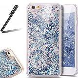 iPhone 7 Plus ケース,iPhone 7 Plus 流れる 液体 ケース,iPhone 7 Plus カバー,SKYMARS 流れる フローティング ラグジュアリー グリッター ス バンパー ケース iPhone 7 Plus カバー (Silver)