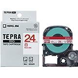 キングジム テープカートリッジ テプラPRO SS24R 白/赤文字