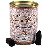 GOLOKA Backflow Incense Cones Fragrance - 24 backflow Cones - Sandalwood, Rose, Natures Nest, Patchouli, Jasmine, Dragons Blo