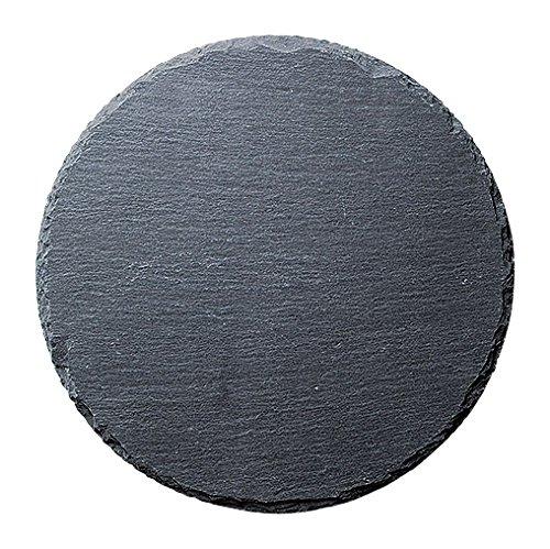 30cm ラウンドスレートプレート 天然石 丸皿