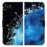 iPhone7用 手帳型ケースカバー 地球の街