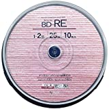 Good-J ブルーレイディスク BD-RE くり返し録画可能 データ&ビデオ対応(25GB/130min) 1-2倍速 ホワイトプリンタブル(ワイドプリント対応) 10枚 スピンドルケース GJRE25-2X10PW