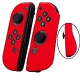 新品 SNNC-JP Nintendo Switch Joy-Con シリコンケース (L)/(R) カバー ニンテンドースイッチ 任天堂 コントローラ用 保護ケース キズ防止 滑り止め (レッド)