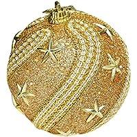 inverleeクリスマスラインストーンGlitter Foam Baubles Balls Xmasツリー吊り下げオーナメント装飾 One Size