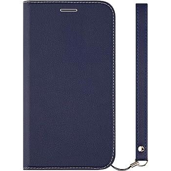 1ce9d1f1cc Simplism iPhone XS/X対応 [FlipNote Slim] クラリーノ フリップノートケース フラットネイビー