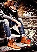 スノーブーツ メンズ ブーツ ワークブーツ 防寒 アウトドア 人気 男 靴  ムートンブーツ BOOTS  防寒 ウインターブーツ 冬靴 WV038[イエローブラウン/25]