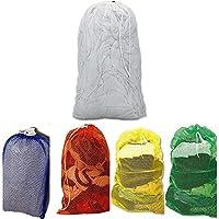 ランドリーメッシュネットバッグ巾着 – ピック色:ブルー、ホワイト、オレンジ、イエロー 24x36 ブルー B013JPO18O