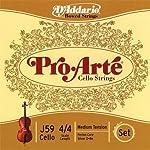 D'Addario Pro-Arte Cello String Set 4/4 Scale Medium Tension 【TEA】 [並行輸入品]