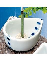 香皿 水玉 ミニ香立鉢(香玉付) 花びら [5.5x4.5xH2.5cm] プレゼント ギフト 和食器 かわいい インテリア