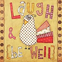 C.R. Gibson Gift Enclosure Cards Laugh & Be Well 12-Count (CE4-12499) [並行輸入品]