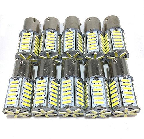 12V LED S25 シングル ホワイト 36連 マーカー...