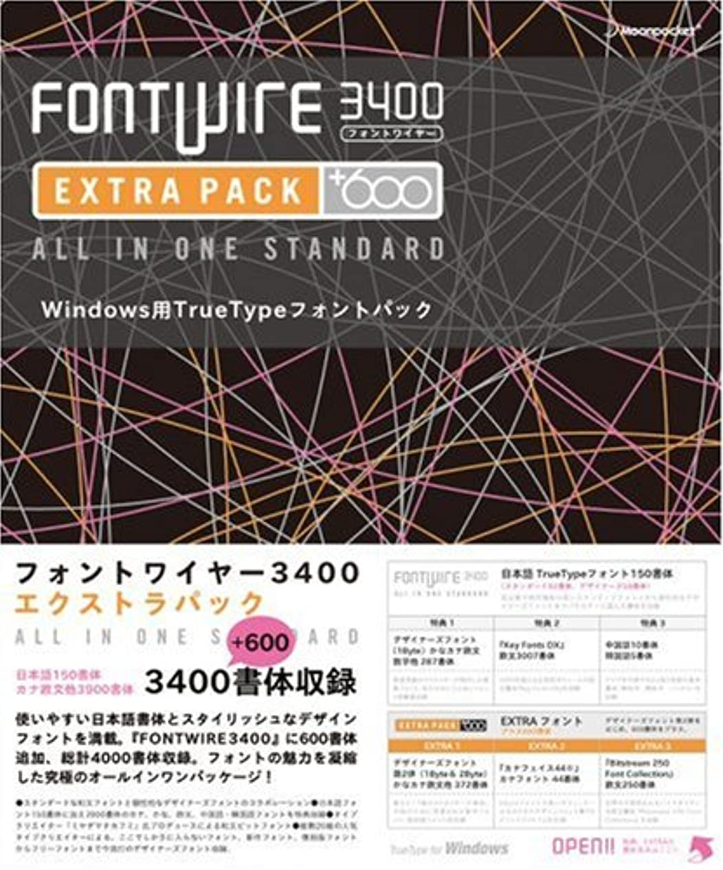 変成器もの素敵なFONTWIRE 3400 EXTRAPACK for Windows