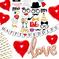 B 【75本】 フォトプロップス 結婚式 誕生日 パーティー ウェディング ブライダル 写真撮影 装飾 ペーパーフラワー ポンポン ハニカムボール ガーランド プロップス 飾り付け (2組セット)
