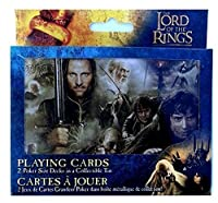 collectible Lord of the Rings ~ 2 PokerサイズDecks in a Collectible Tin ~ 2012