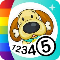 Color by Numbers - Dogs +