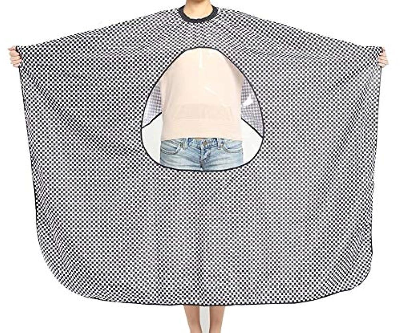 安心させるバンドルアイスクリームHIZLJJ 理髪岬ユニセックス-プロフェッショナル/商用ヘアカット用の透明なビューイングウィンドウサロンエプロン