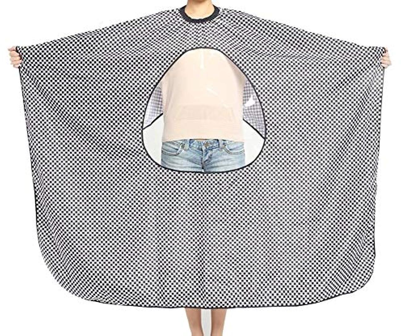 宇宙飛行士キャビン胚HIZLJJ 理髪岬ユニセックス-プロフェッショナル/商用ヘアカット用の透明なビューイングウィンドウサロンエプロン